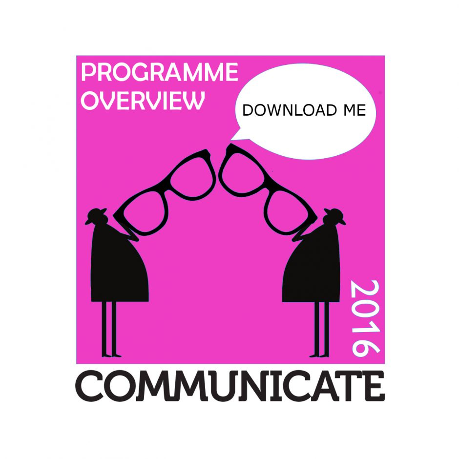 Communicate 2016 logo PROGRAMME OVERVIEW